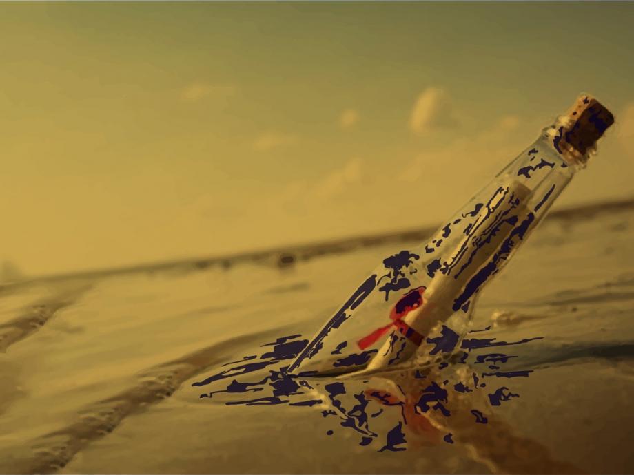 """""""Botellas en el Mar"""". Art: Manuela Rebori."""